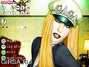 Флеш игра онлайн Lady Gaga Makeover