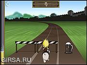 Флеш игра онлайн Ларри: Бег щенка / Larry: Pup Run