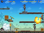 Флеш игра онлайн Бешеные Бомбочки против Зомби