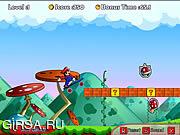 Флеш игра онлайн Марио на скейте / Mario Boarding