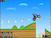 Флеш игра онлайн Mario Bros Motobike