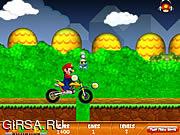 Флеш игра онлайн Веселые гонки с Марио / Mario Fun Ride