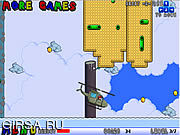 Флеш игра онлайн Марио на вертолете / Mario Helicopter