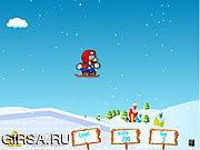 Флеш игра онлайн Марио на коньках / Mario Ice Skating