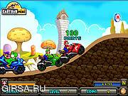 Флеш игра онлайн Марио - супер-гонщик / Mario Racing Star