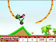 Флеш игра онлайн Гонщик Марио 2 / Mario Ride 2