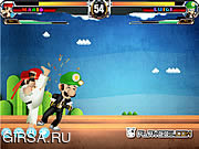 Флеш игра онлайн Mario Street Fight Game