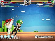 Флеш игра онлайн Mario Street Fight Game