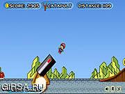 Флеш игра онлайн Марио - пушечное ядро / Mario Toss