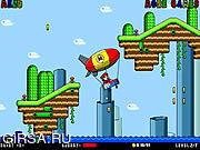 Флеш игра онлайн Приключения Марио / Mario Zeppelin