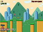 Флеш игра онлайн Домой Беги Марио / Mario's Home Run