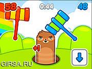 Флеш игра онлайн Mole Hammers