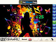 Флеш игра онлайн Musical Art Find Numbers