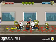 Флеш игра онлайн Nerd vs Zombies 2