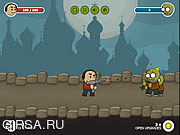 Флеш игра онлайн Nerd vs Zombies Just Survive