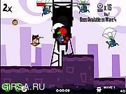 Флеш игра онлайн Ninja Hamsters Vs Robots