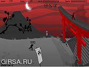 Флеш игра онлайн Луна крови охотника Ninja