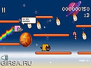 Флеш игра онлайн Nyan Cat: Lost in Space