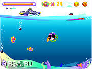 Флеш игра онлайн Пингвин-Подводник / Penguin Dive