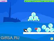 Флеш игра онлайн Игры с пингвинами / Penguins Fun Fall