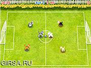 Флеш игра онлайн Футбол Домашних Питомцев