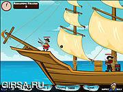 Флеш игра онлайн Атака Пиратов