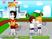 Флеш игра онлайн Поцелуй спортивной площадки