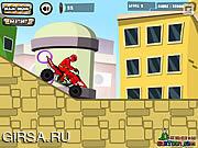 Флеш игра онлайн Power Rangers Dino Красной ATV