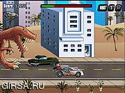 Флеш игра онлайн Т-Rex Неистовствовали: Доисторическая Пицца / T-Rex Rampage: Prehistoric Pizza