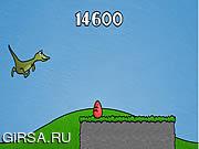 Флеш игра онлайн Приключения динозавра / Raptor Rampage