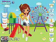 Флеш игра онлайн Riesenrad Парк одеваются / Riesenrad Park Dress Up