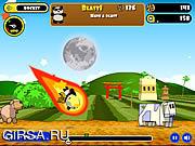 Флеш игра онлайн Rocket Panda - Flying Cookie Quest