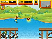 Флеш игра онлайн Беги, Барт, беги! / Run Bart Run