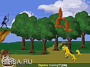 Флеш игра онлайн Сабан могучие рейнджеры Самурай