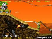 Флеш игра онлайн Веселое Сафари - Побег Зебры / Safari Time