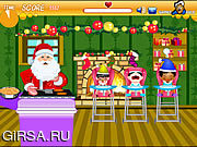 Флеш игра онлайн Санта-повар / Santa's Cook