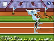 Флеш игра онлайн Скуби Ду - Бег с Препятствиями / Scooby Doo Hurdle Race