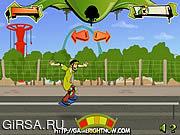 Флеш игра онлайн Скуби Ду на скейтборде / Scooby Doo Skate Race