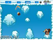 Флеш игра онлайн Голодная белка  - Ледниковый период / Scrat the Nut Eater