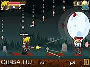 Флеш игра онлайн Стрельба против зомби