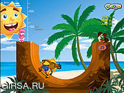 Флеш игра онлайн Skater On The Beach