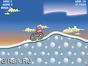 Флеш игра онлайн Тележка снежка