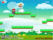Флеш игра онлайн Snowy Марио / Snowy Mario