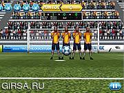 Флеш игра онлайн Футбол Свободных Ударов / Soccer Free Kicks