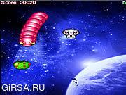Флеш игра онлайн Космический Червь