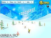 Флеш игра онлайн Spongebob Squarepants - Snowboard Rider
