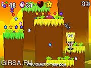 Флеш игра онлайн Губка Боб супер подскакивает