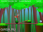 Флеш игра онлайн Баланс белки / Squirrel Balance