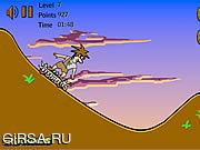 Флеш игра онлайн Пещерный человек на скейтборде 2