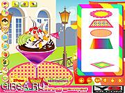 Флеш игра онлайн Клубничным мороженым / Strawberry Ice Cream